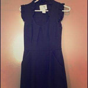 Anthropologie Tabitha Black Dress